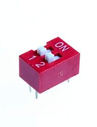 DIY 2-Position 4-Pin 2.54mm Pitch Dip Switches (10-Piece Pack)