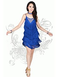 Latin Dance Women's Sexy Tassel Performance Dress(More Colors)
