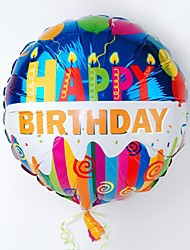 Candle Pattern Happy Birthday Foil Balloons