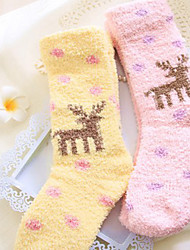 Candy Color Sweet Style Christmas Socks(Random Color)