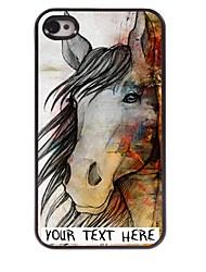 personnalisé cas de téléphone - le cas conception de cheval en métal pour iPhone 4 / 4S