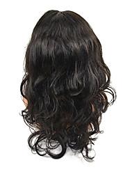 20 vaga polegadas virgem do laço do cabelo humano peruca dianteira para a menina de três cores