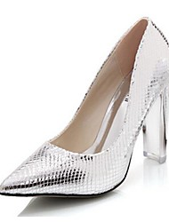 Women's Spring Summer Fall Synthetic Wedding Dress Party & Evening Chunky Heel Silver Gold