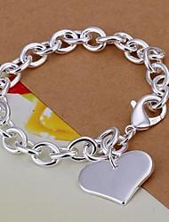 Bracelet Charmes pour Bracelets Plaqué argent Amour Mariage / Soirée / Quotidien / Décontracté Bijoux Cadeau Argent