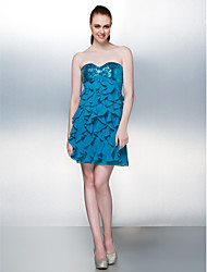 Cocktail Party Dress - Pool Plus Sizes / Petite Sheath/Column Sweetheart Short/Mini Sequined / Georgette