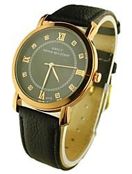 мужская круглый циферблат PU Группа Кварцевые аналоговые наручные часы