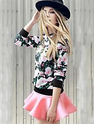 Women's Fashion Slim  Suit  (T-shirt & Skirt)