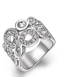 austria cristal branco europeu anéis das mulheres super-liga individuais círculo de instrução (1 pc)