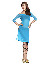 mangas meia dança do ventre dancewear tule das mulheres elegantes trajes de dança do ventre (mais cores)