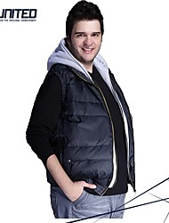 H-United® Men's Big Size Hooded Luxe Puffer Vest Big&Tall Size Mens Winter Warm Down Waistcoat