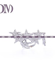 OM® Silver-tone Stars Ring