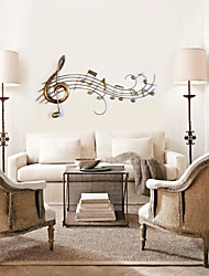 E-HOME® Metal Wall Art Wall Decor, The Golden Note Wall Decor