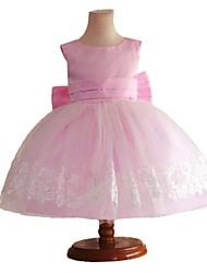 la robe arc élégant de partie de col rond de la jeune fille (plus de couleurs)