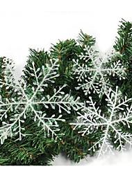 6 pcs A Box Christmas Snow Flake of Window Stickers