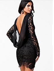 Annie Fashion Chiffon Lace Backless Dress