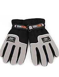 Adjustable Men's Full Finger Fleece Outdoor Windproof Thermal Winter Ski Cycling Skiing Hiking Gloves
