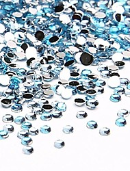 10000PCS 1.5mm Blue Acrylic Rhinestones Crystal Nails Jewelry for Nail Art Nail Design