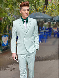 As Picture Solid Slim Fit Tuxedo In Polyester