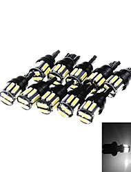 T10 5W 300LM 6500K 10 x SMD 7020 LED Cool White Car Clearance Lamp / Side Light (12V / 10PCS)