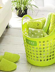 Solid Plastic Dirty Clothes Basket,Three Kinds Of Color Can Choose