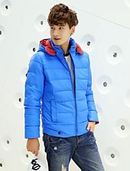 shengweiao 2014 doudoune légère coréen pour hommes doudoune loisirs auto-culture à capuche veste hiver nouveaux hommes