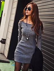 vestido de manga larga sin tirantes de Samantha mujeres
