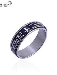 Anéis Diário Jóias Aço Inoxidável Masculino8 / 9 / 8½ Prateado