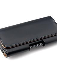 iphone 7 mais cor estojo de couro pu sólida com clip de cintura para iphone 5 / 5s / 5c