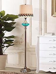 Lampadaire eidehi® style contemporain en verre et métal plaquent