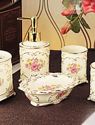 baño de juego de accesorios, artículos de baño europeas pequeña taza kit Conjunto 5 piezas