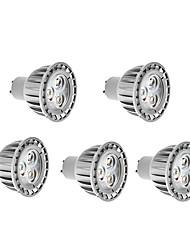 4W GU10 LED Spotlight High Power LED 280 lm Warm White AC 85-265 V 5 pcs