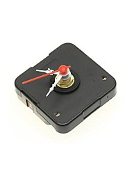 Black Quartz Clock Movement with Silver Plastic Hour Minute Hand for DIY