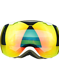 BASTO Snow Googgles White Frame Orange Sensor Mirror Lens