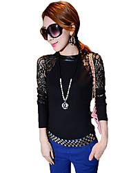 XNR Women's Fashion Casual Anomaly Lace Blouse