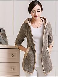 ocasional tudo combinando casaco hoodie das mulheres mg