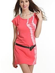 Women's Fashion Cotton Lycra Holiday Beach Skirt + Belt