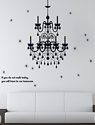 Wall Stickers Wall Decals, Chandelier PVC Wall Stickers