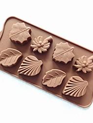 8 trous cocotier laisse moule à cake gelée de glace moule de chocolat, de silicone 22,5 × 10,5 × 2 cm (8,9 × 4,1 × 0,8 pouces)
