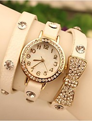 Women's 2015 The Latest Bowknot Fashion Leather Japanese Quartz Watch(Assorted Colors) Cool Watches Unique Watches