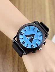 Женские Нарядные часы Уникальный творческий часы Кварцевый силиконовый Группа Черный