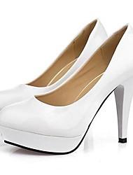 zapatos de las mujeres de las bombas del dedo del pie del estilete de cuero talón ronda zapatos más colores disponibles
