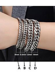 moda contratada pulseira de titânio homens de aço