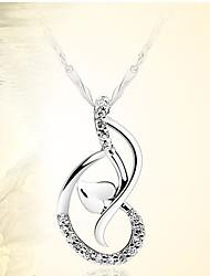 925 Silver Love Dance Hear Pendant With Cubic Zirconia