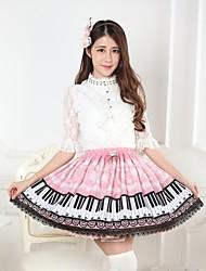 pink lolita copo de nieve y las llaves de la princesa falda kawaii encantador cosplay
