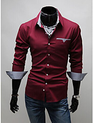 Vito Men's Casual Shirt Collar Long Sleeve Casual Shirts