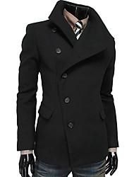 mode casual lourd revers cou couleur unie manteau de Kailuo hommes