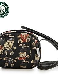 bolso de cuero de la famosa fiesta de señora de la marca embragues del día de la noche Daka Bear® totes el bolso de bandolera con correa