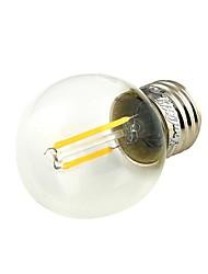 2W E26/E27 Ampoules Globe LED G45 2 COB 180 lm Blanc Chaud Décorative V