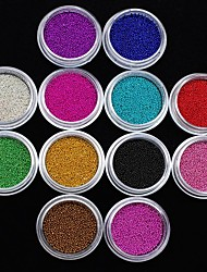 12Pcs Colors Caviar Nail Art Decoration