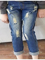 Girl's Blue Jeans Denim Winter / Spring / Fall